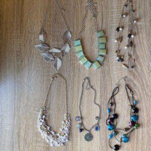 LOT of 6 different vintage necklaces